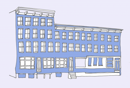 95 Commercial Street. Illustration by Sara Harvey