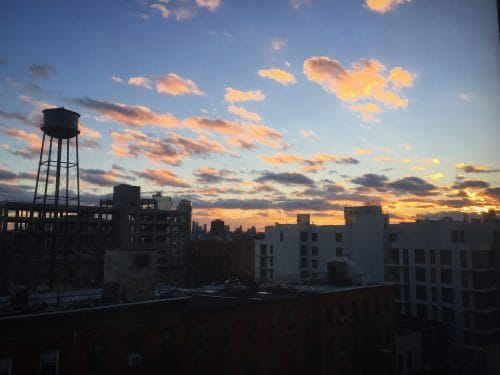 Greenpoint sunset. Photo: Megan Penmann