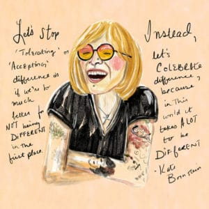 Jen Keenan, Kate Bornstein print