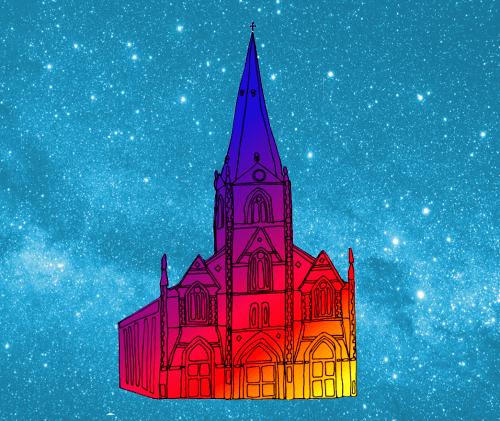 St Anthony's, illustration by Sara Harvey