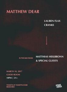 Matthew Dear Good Room