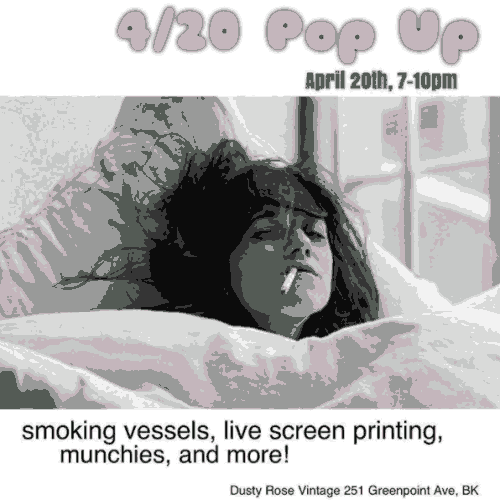 Dusty Rose Popup 4/20