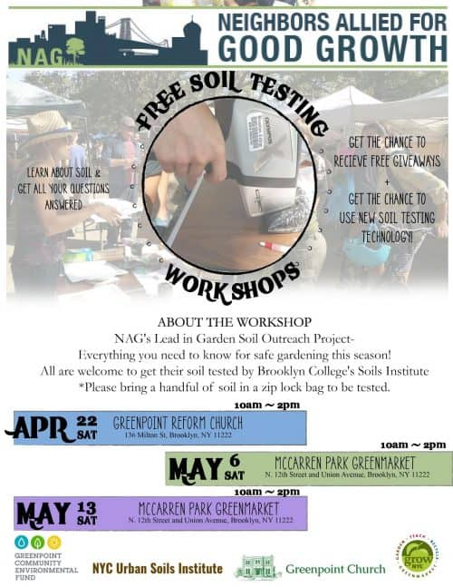 Get Dirty: FREE Soil Testing For Three Weekends