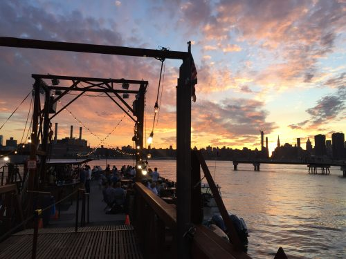 Sunset from the Barge. Photo: Megan Penmann