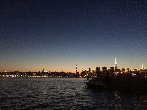 Sunset from The Brooklyn Barge. Photo: Megan Penmann