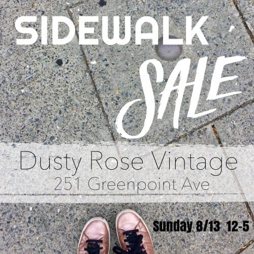 Dusty Rose Vintage sidewalk sale