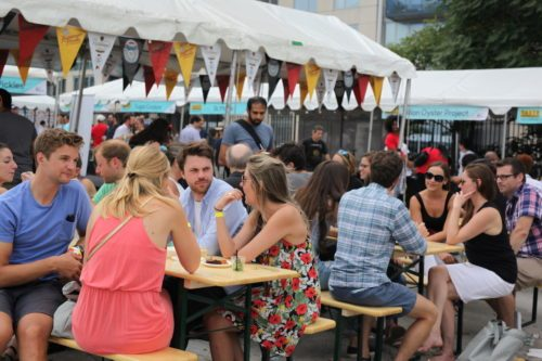 The beer garden at the 2016 TASTE fest