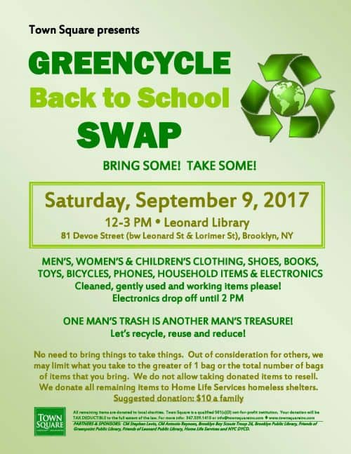 Greencycle Swap Sept 2017