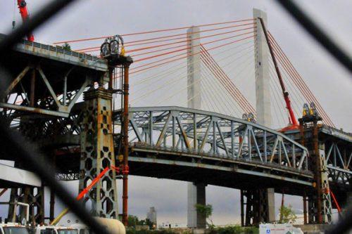 The end of the old Kosciusko Bridge. Via Brooklyn Paper