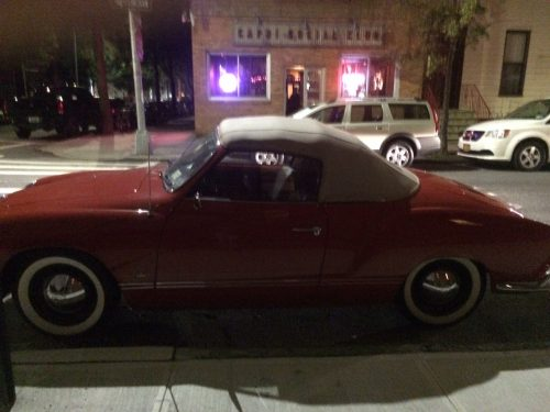 Lots in the news about cars this week. Here's a great one I saw on Calyer Street on Wednesday! Photo by Lucie Levine