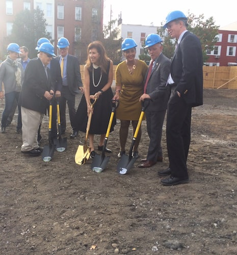 Breaking ground on the new Greenpoint Library and Education Center. Photo by Lucie Levine