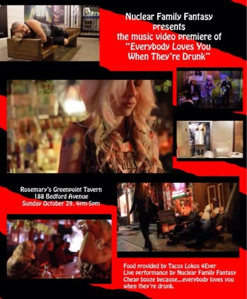 Music Video Release + Fundraiser at Rosemary's Greenpoint Tavern