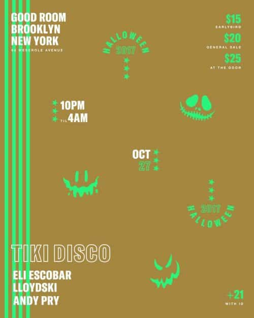 Tiki Disco Halloween @ Good Room 2017