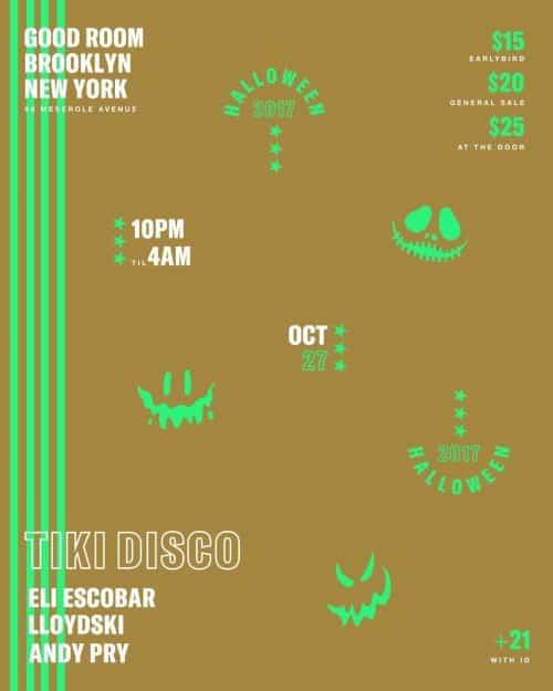 Tiki Disco Halloween @ Good Room 2017