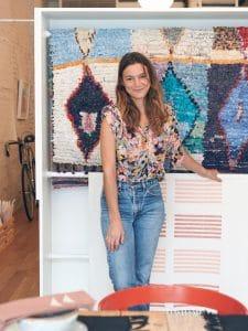 Caroline Z Hurley in her shop, photo by Mitch Boyer