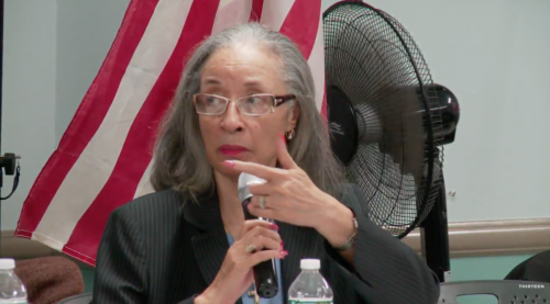 Dealice Fuller at the CB1 meeting on November 14, 2017