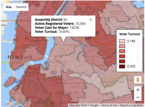 (From the article map data at https://www.timeout.com/newyork/blog/nyc-had-an-abysmally-low-voter-turnout-in-tuesdays-election-110817)