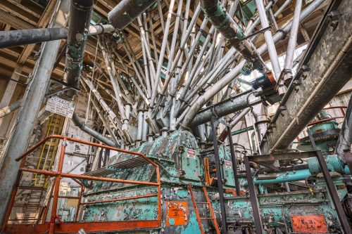 """Inside the Domino Sugar Factory, from the """"Sweet Ruin"""" exhibit, photo by Paul Raphaelson"""