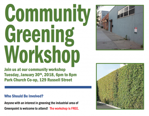 community greening workshop