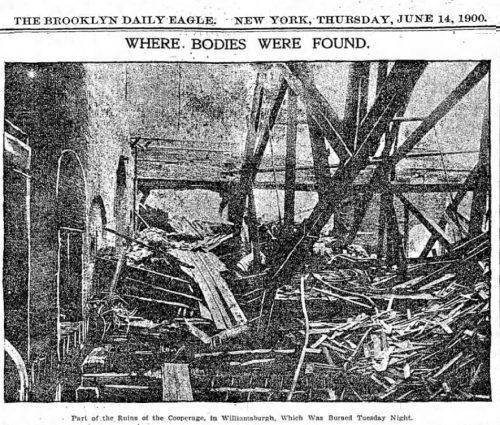 Weidmann Cooperage Fire - Brooklyn Daily Eagle June 14 1900