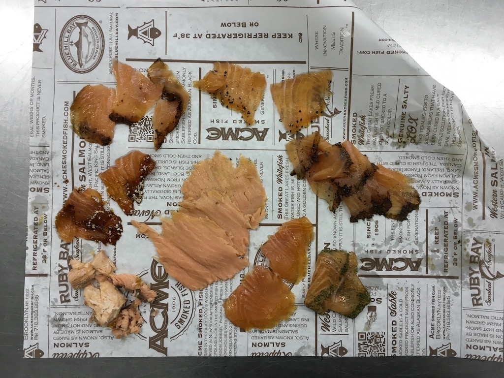 Bagel lox world record this friday at acme smoked fish for Acme fish friday