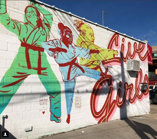 Mural at Greenpoint Shotokan Karate. Photo: Megan Penmann