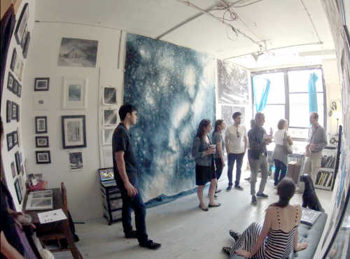 Visitors inside Colleen Blackard's studio during GOS 2017. Image via Colleen Blackard