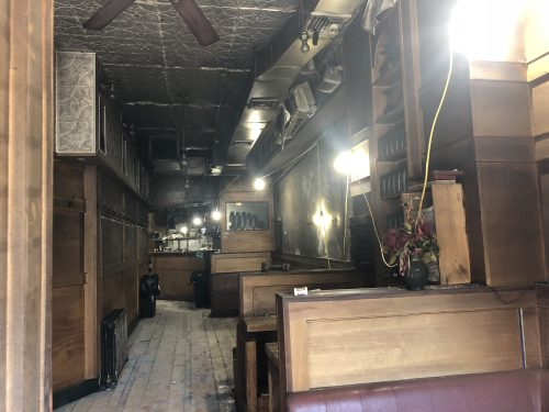 Inside Anella, after the fire. Photo: Megan Penmann