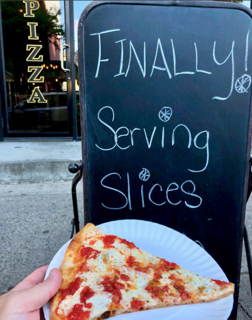 New slices at Ria Bella Pizza. Photo via Instagram