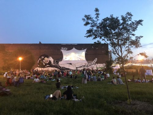 Movie in Transmitter Park. Photo: Megan Penmann