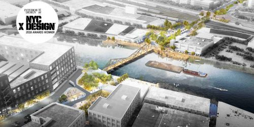 Floating Timber Bridge Proposed to Span Newtown Creek