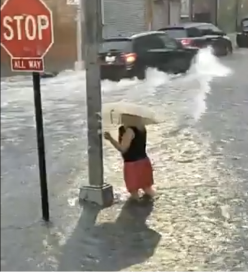 Williamsburg Streets Flooded During Monday's Heavy Rain